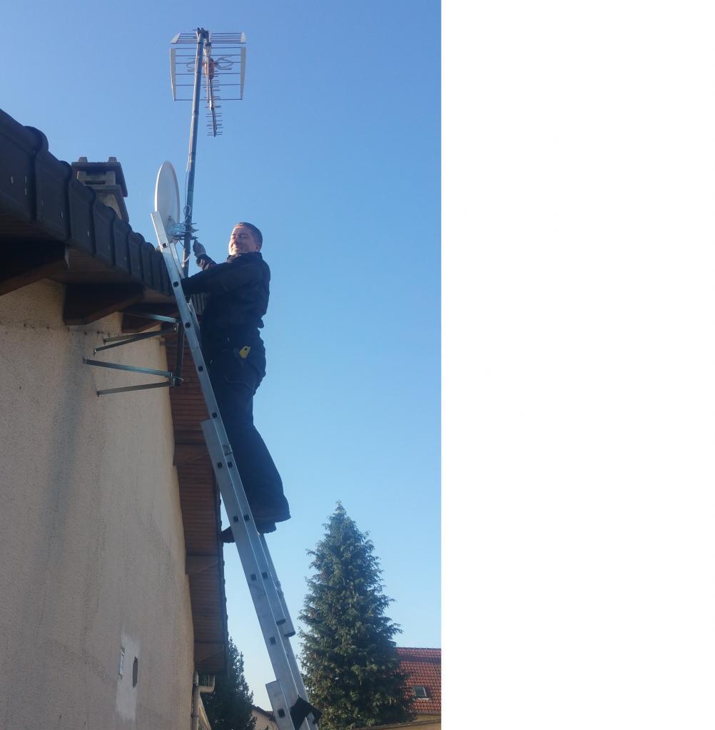 Antenne sur Pignon